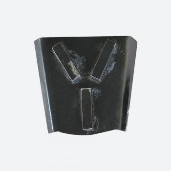 Трапециевидная фреза с тремя алмазными сегментами