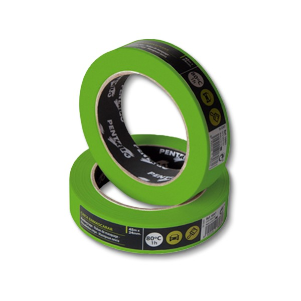 Малярная лента защита при контакте с водой Pentrilo Greenmask 24 мм х 45 м