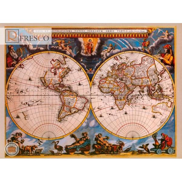 Фреска Renaissance Fresco Maps (1013)