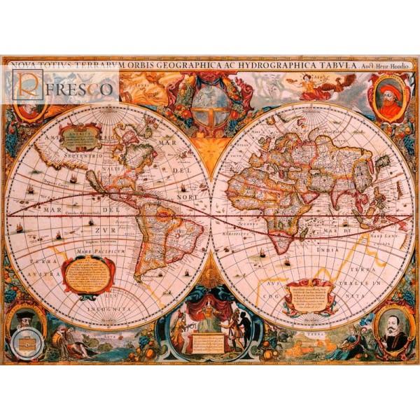 Фреска Renaissance Fresco Maps (1016)