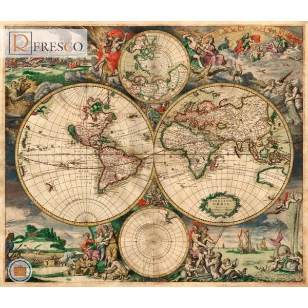 Фреска Renaissance Fresco Maps (12001)