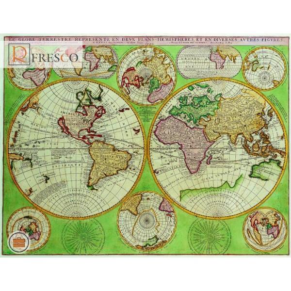 Фреска Renaissance Fresco Maps (12005)