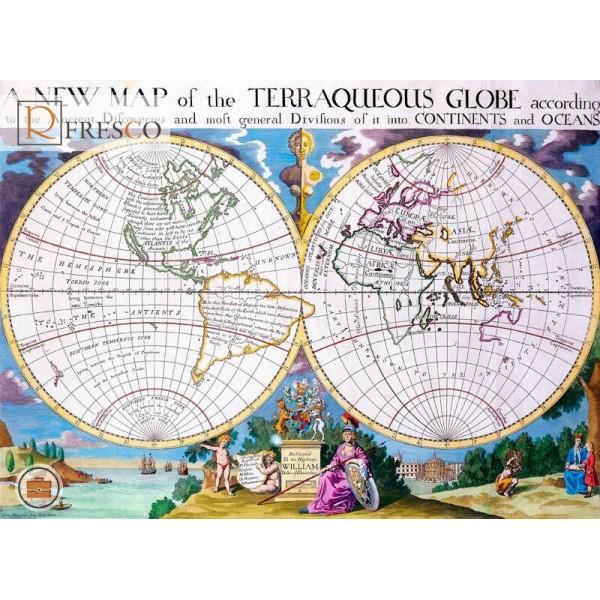 Фреска Renaissance Fresco Maps (12006)