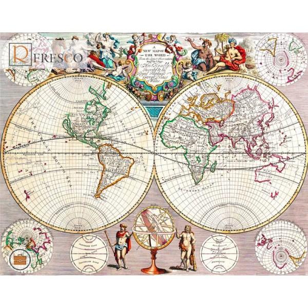 Фреска Renaissance Fresco Maps (12007)