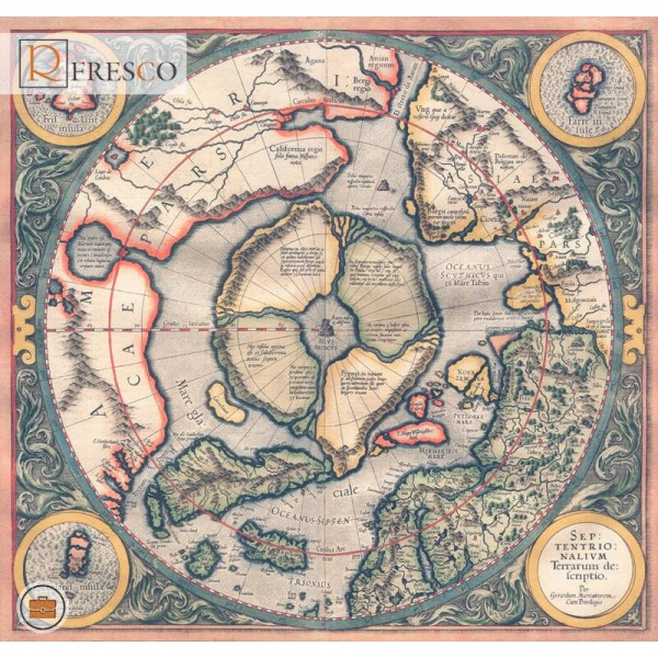 Фреска Renaissance Fresco Maps (12019)