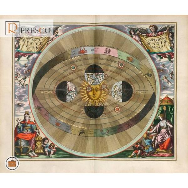 Фреска Renaissance Fresco Maps (12021)