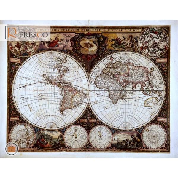Фреска Renaissance Fresco Maps (12035)