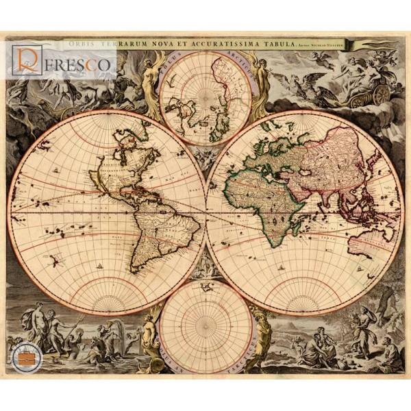 Фреска Renaissance Fresco Maps (12053)