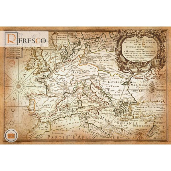 Фреска Renaissance Fresco Maps (12069)