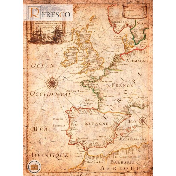 Фреска Renaissance Fresco Maps (12072)