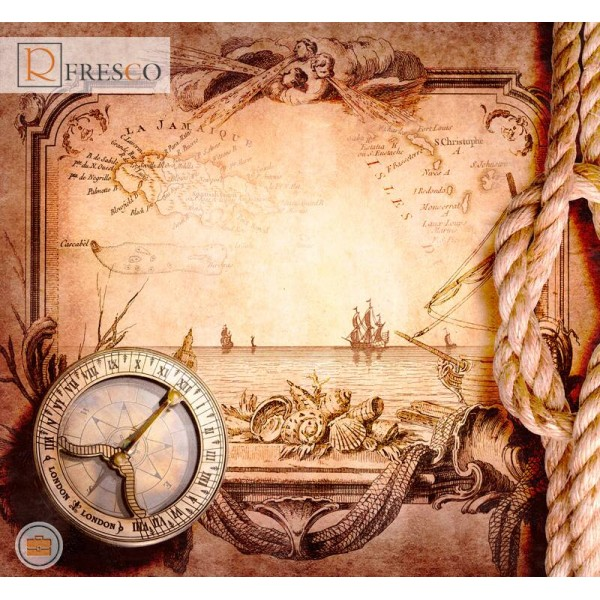 Фреска Renaissance Fresco Maps (12081)