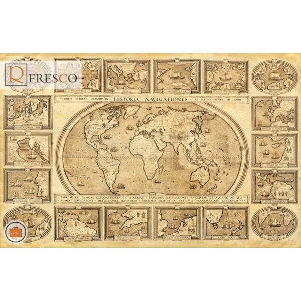 Фреска Renaissance Fresco Maps (12102)