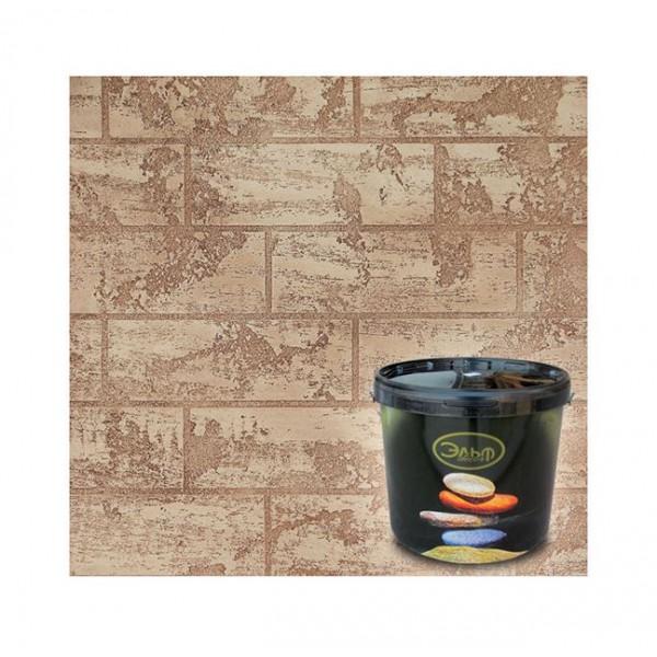 Декоративная штукатурка фактурная Эльф Декор Travertino Style Nero, Wenge (15 кг)