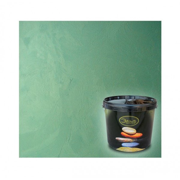 Декоративное покрытие с эффектом мокрого шёлка Эльф Декор Illusion Silver (5 кг)