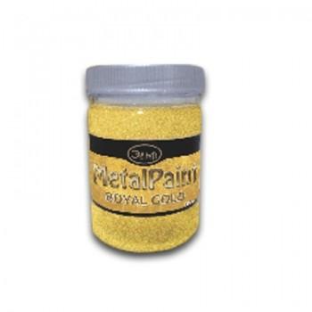 Универсальная водорастворимая  металлизированная краска Metalpaint Royal Gold, 0,15 л