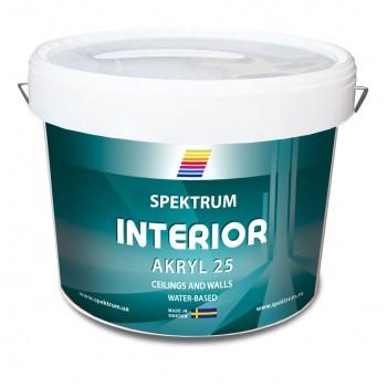 Краска акриловая для влажных помещений Spektrum Interior 25 база Hvit (10 л)