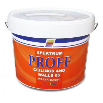 Краска матовая белая Spektrum Proff 05 база Hvit (10 л)