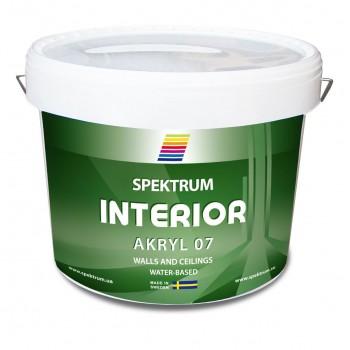 Краска матовая для стен Spektrum Interior 07 база Hvit (10 л)