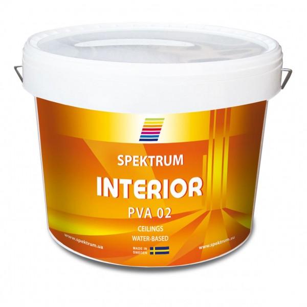 Краска по бетону для внутренних работ Spektrum Interior 02 база Hvit (10 л)