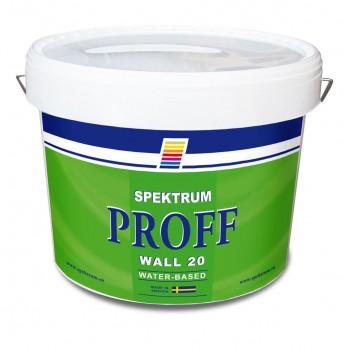 Краска полуматовая для стен Spektrum Proff 20 база Hvit (10 л)