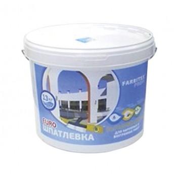Шпатлевка финишная для внутренних и наружных работ Farbitex Profi (13 кг)