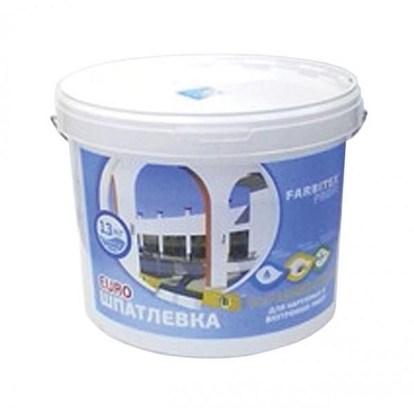 Фото - Шпаклевки - Шпатлевка финишная для внутренних и наружных работ Farbitex Profi (13 кг)