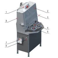 Фото - Машины для удаления косточек ягод - Промышленная машина для отделения сердцевины от яблока и его резки на дольки КВ-850