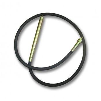 Гибкий вал для вибратора глубинного для бетона Spektrum ZIP-150 – длина 2 м, диаметр булавы 38 мм