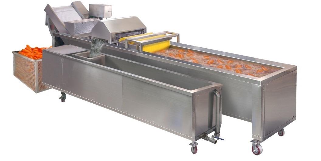 Барботажная моечная машина с конвейером для мойки овощей и фруктов