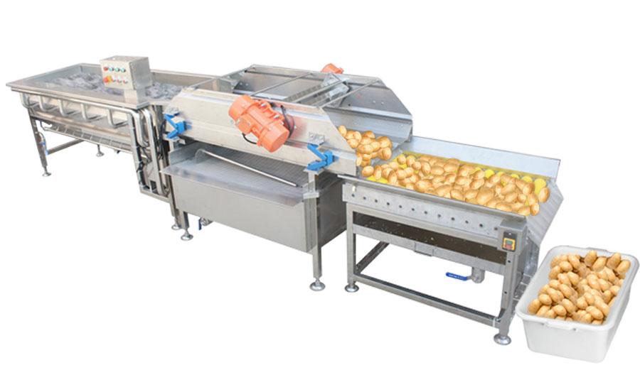 Конвейерно вихревая моечная машина для овощей и фруктов